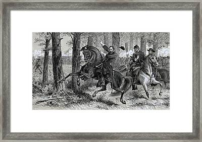 The Fall Of Reynolds Framed Print by Alfred R Waud
