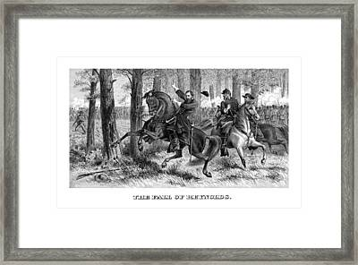 The Fall Of Reynolds Framed Print by War Is Hell Store