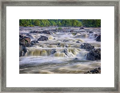 The Falls At Great Falls Park Framed Print by Rick Berk