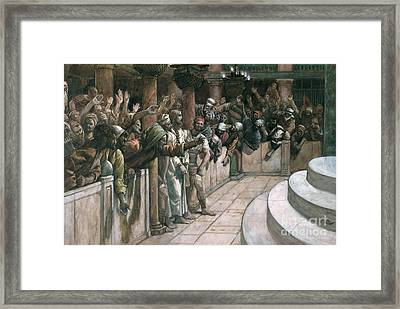 The False Witness Framed Print by Tissot
