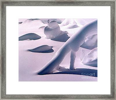 The Fantasy Of Snow Drifts 2 Framed Print by Terril Heilman