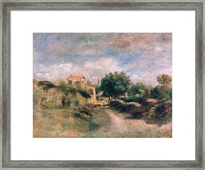 The Farm Framed Print by Renoir