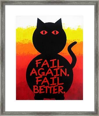 The Fearline Of Failure Framed Print by Oliver Johnston
