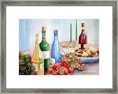 The Feast Framed Print by Deborah Ronglien