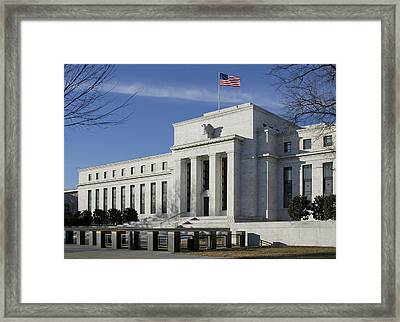 The Federal Reserve In Washington Dc Framed Print by Brendan Reals