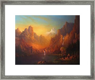 The Fellowship Of The Ring Moria Framed Print by Joe  Gilronan