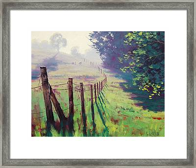 The Fence Line Framed Print by Graham Gercken