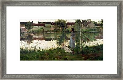 The Ferry Framed Print by William Stott