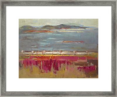 The Field Framed Print by Becky Kim
