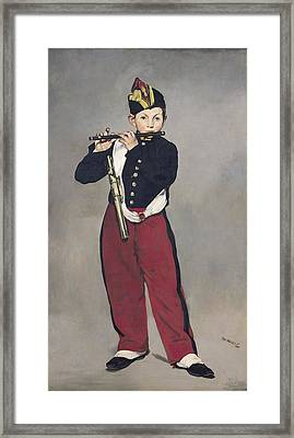 The Fifer Framed Print by Edouard Manet