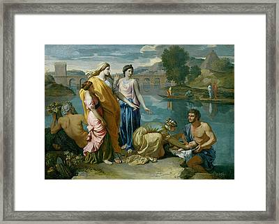 The Finding Of Moses Framed Print by Nicolas Poussin