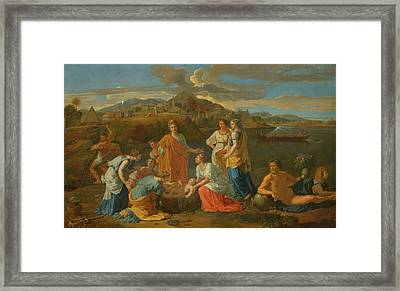 The Finding Of Moses Framed Print by Nicolas