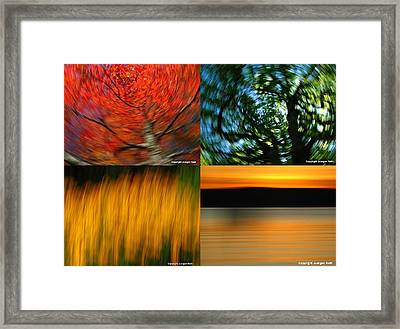The Fine Art Of Camera Panning Framed Print by Juergen Roth