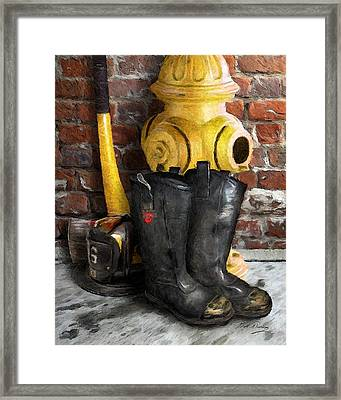 The Fireman Framed Print by Bill Fleming