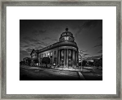 The First Baptist Church Of Tampa Bw Framed Print by Marvin Spates