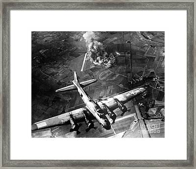 The First Big Raid By The 8th Air Force Framed Print by Stocktrek Images