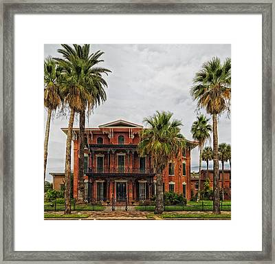The First Brick House Of Texas - Ashton Villa Galveston Framed Print by Mountain Dreams