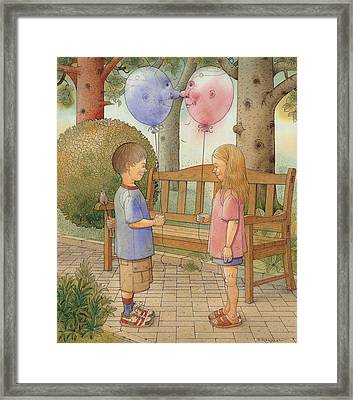 The First Date Framed Print by Kestutis Kasparavicius