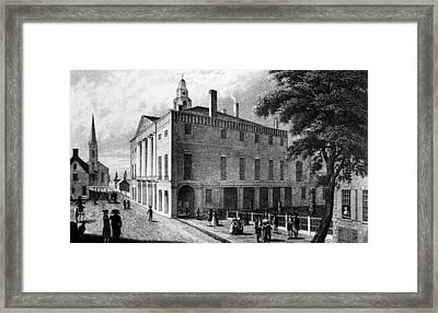 The First Federal Hall, At 26 Wall Framed Print by Everett