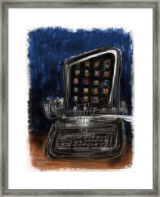 The First Ipad Framed Print by Russell Pierce