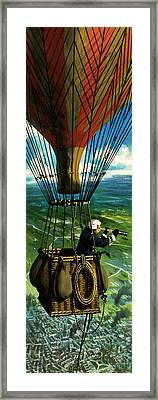 The First Military Mission From The Air Framed Print by Wilf Hardy