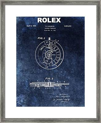 The First Rolex Patent Framed Print by Dan Sproul