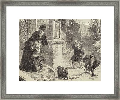 The First Snowball Framed Print by Horace Petherick
