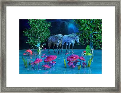 The First Time We Saw Horses Framed Print by Betsy C Knapp