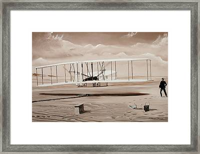 The First To Fly Framed Print by Kenneth Young