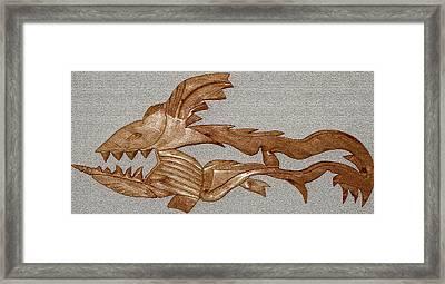 The Fish Skeleton Framed Print by Robert Margetts