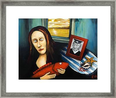 The Fisherman's Wife Framed Print by Konstantin Kirioukhine