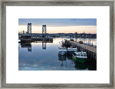 The Fishing Fleet - Portsmouth Framed Print by Eric Gendron
