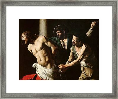 The Flagellation Of Christ Framed Print by Caravaggio
