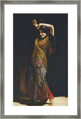 The Flamenco Dancer Framed Print by Leopold Schmutzler