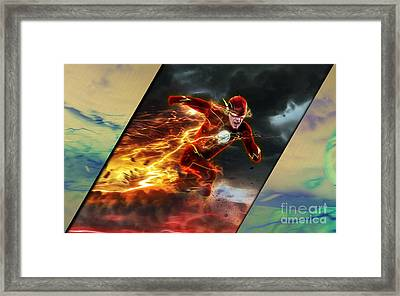 The Flash Collection Framed Print by Marvin Blaine
