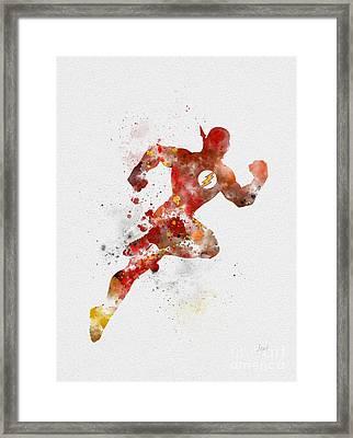 The Flash Framed Print by Rebecca Jenkins