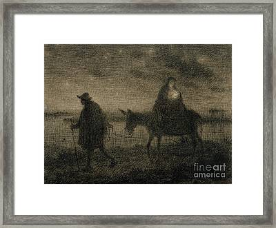 The Flight Into Egypt Framed Print by Jean Francois Millet