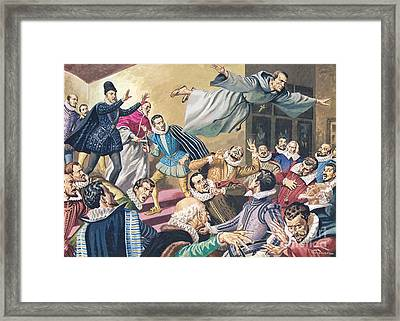 The Flight Of Father Dominic Framed Print by English School