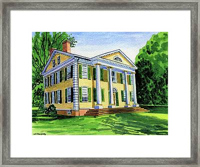 The Florence Griswold House In Old Lyme Ct. Framed Print by Jeff Blazejovsky