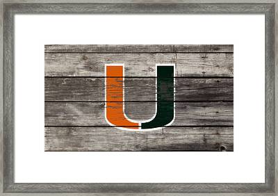 The Miami Hurricanes 3h      Framed Print by Brian Reaves