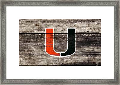 The Miami Hurricanes       Framed Print by Brian Reaves