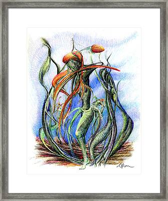 The Flower Dancing Framed Print by Mark Johnson