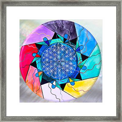 The Flower Of Life Framed Print by Teal Eye Print Store