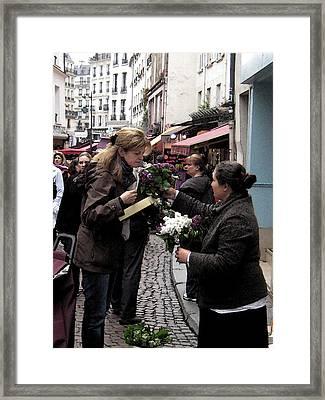 The Flower Seller Framed Print by Lori  Secouler-Beaudry
