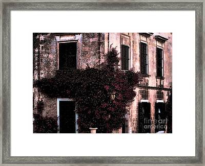 The Flower Shop Malta Framed Print by Tom Prendergast