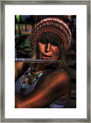 The Flutist Framed Print by David Patterson