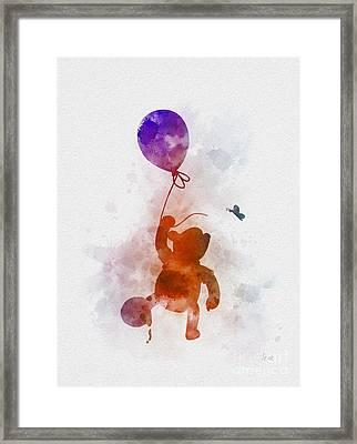 The Flying Bear Framed Print by Rebecca Jenkins