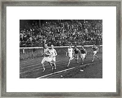 The Flying Finn Takes The Lead Framed Print by Underwood Archives