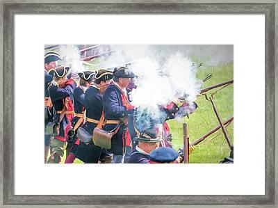 The Fog Of Battle Framed Print by Wes Iversen