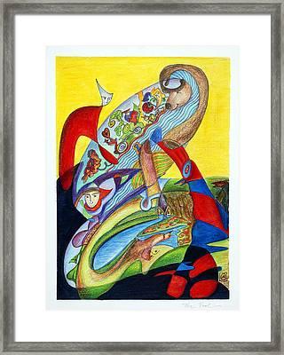 The Fool Framed Print by Monika Kretschmar